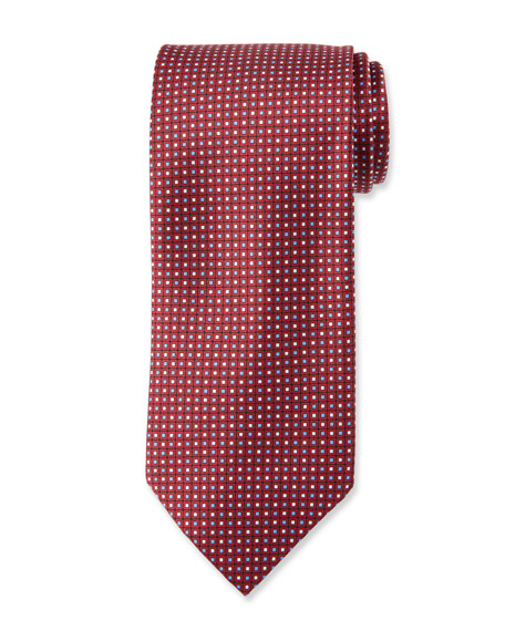Brioni Neat Square Silk Tie
