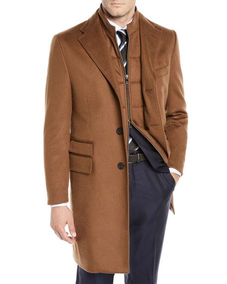 Corneliani Men's ID Wool Top Coat