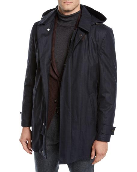 Corneliani Men's Storm System Wool-Blend Topcoat