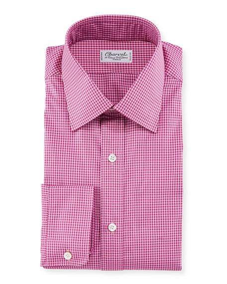 Charvet Men's Tonal Tattersall Dress Shirt