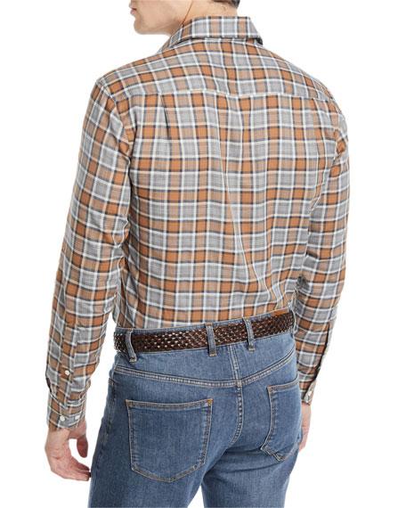 Peter Millar Men's Gamla Melange Plaid Sport Shirt