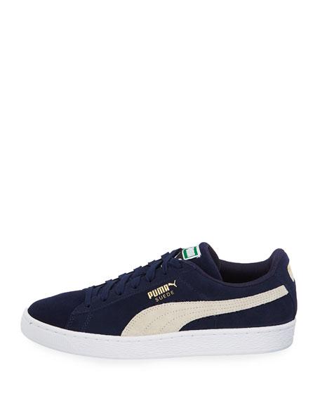 Men's Classic Suede Low-Top Sneakers, Blue