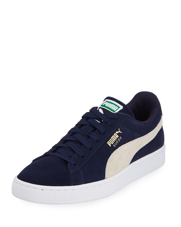 c889be56d7b11d Puma Men s Classic Suede Low Top Sneakers Blue Neiman