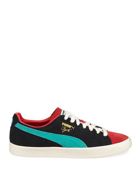 Men's Clyde Colorblock Suede Platform Low-Top Sneakers