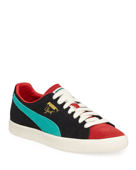 5e5a99caab46 Puma Men S Clyde From The Archive Color-Block Suede Lace-Up Sneakers In Red