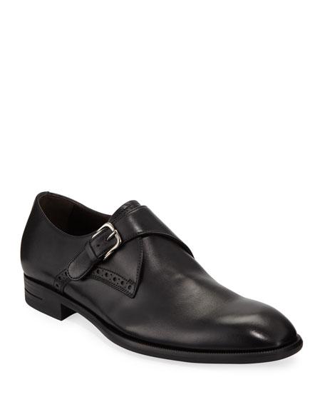 Men'S New Flex Monk-Strap Shoes, Black