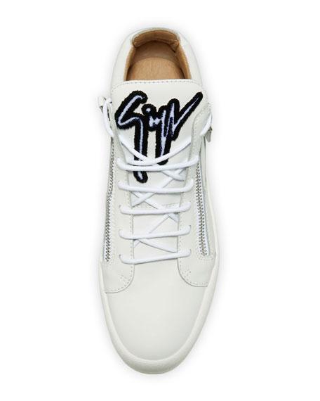 Men's Mid-Top Sneaker with Varsity Felt Logo