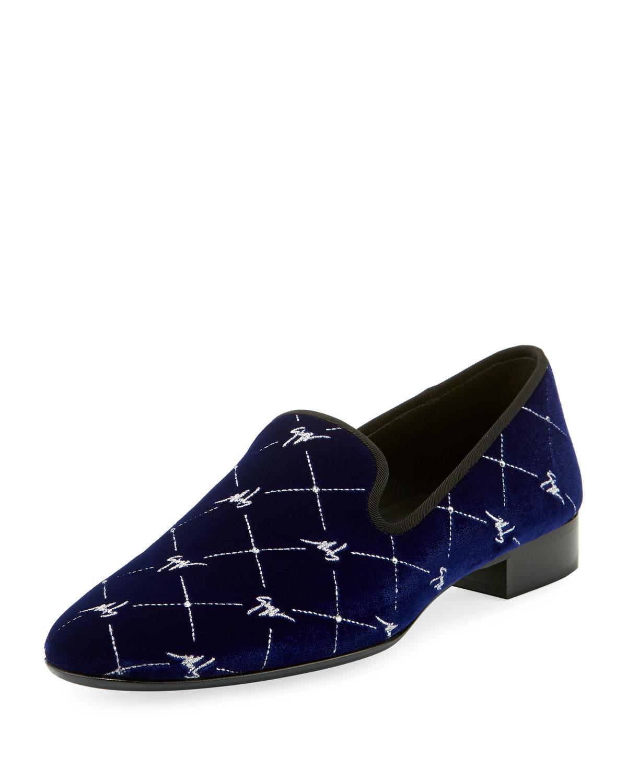 Beaded Velvet Formal Slippers
