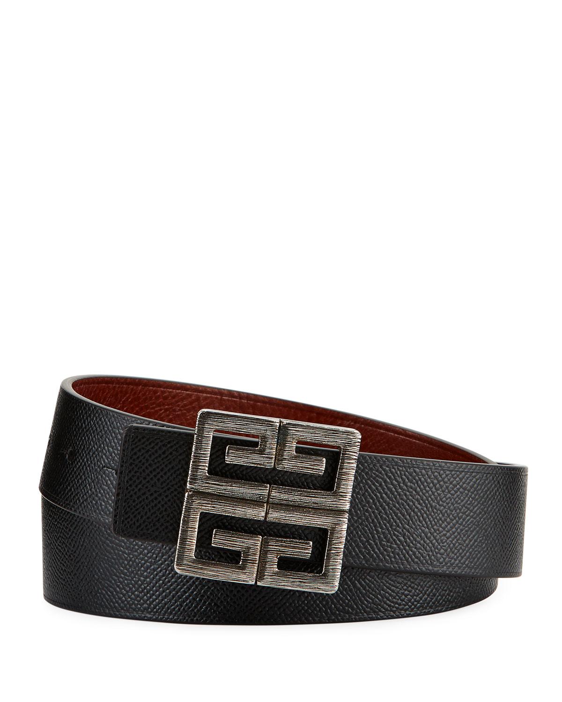 c509cb0d60646 Givenchy Men's 4-G Reversible Leather Belt | Neiman Marcus