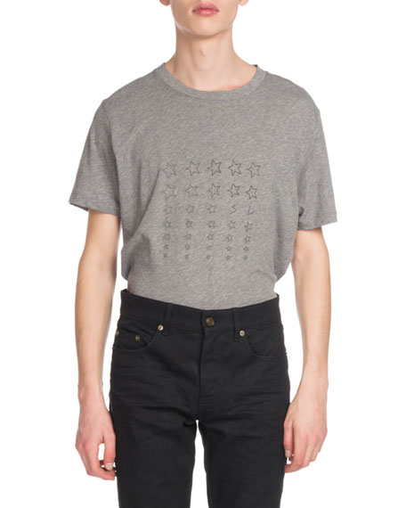 Saint Laurent Men's Stars Graphic T-Shirt