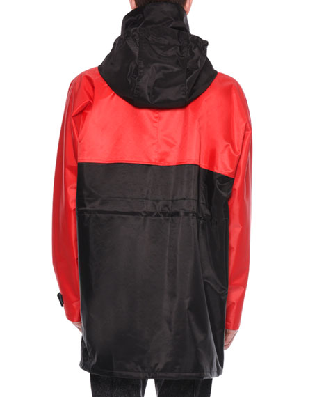 Men's Striped Racing Parka