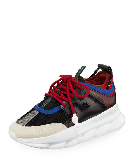 Men's Chain Reaction Greek Key-Print Sneakers