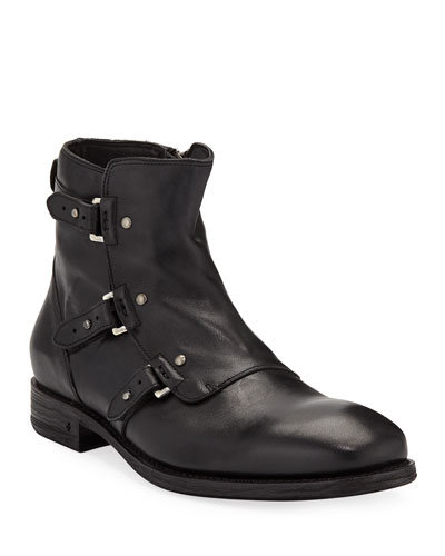 Men's Fleetwood Pin Strap Leather Boots