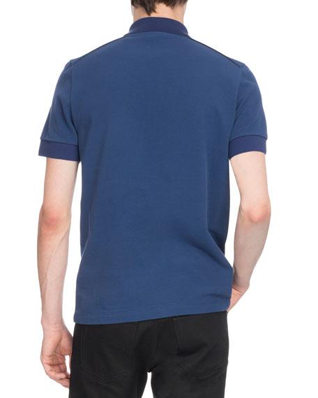 Men's Two-Tone Cotton Polo Shirt