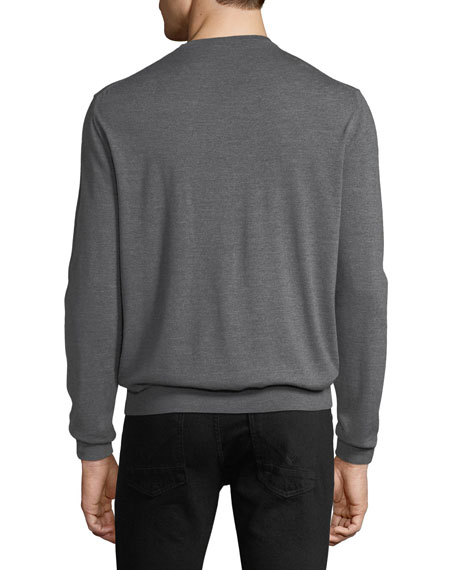 Berluti Men's Wool Crewneck Sweater