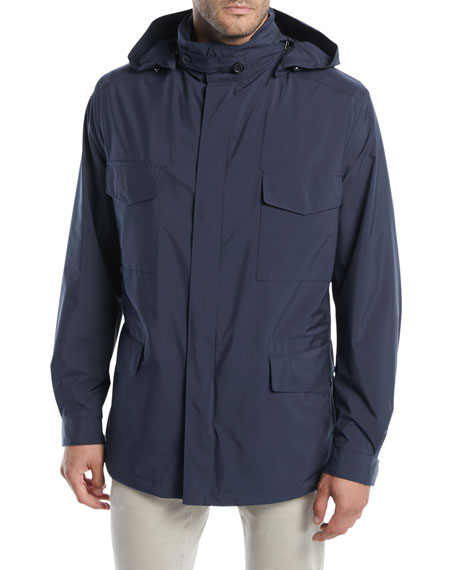 Image 2 of 4: Loro Piana Men's Traveler Windmate Storm System Jacket
