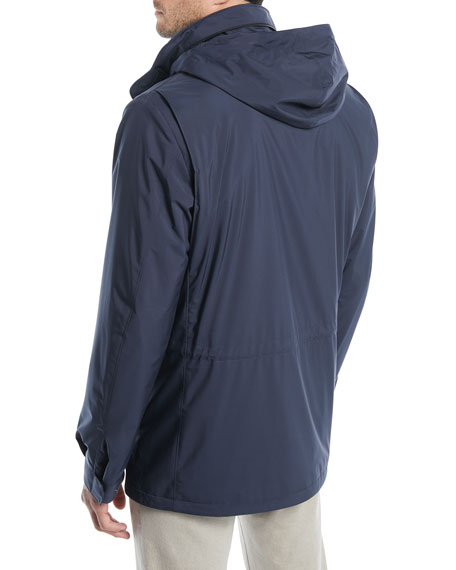 Image 3 of 4: Loro Piana Men's Traveler Windmate Storm System Jacket