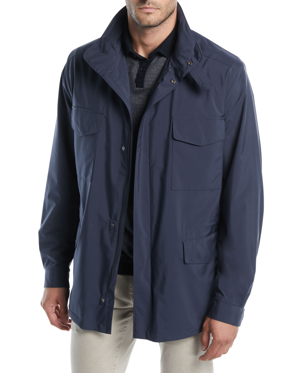 Loro Piana Men's Traveler Windmate Storm System Jacket