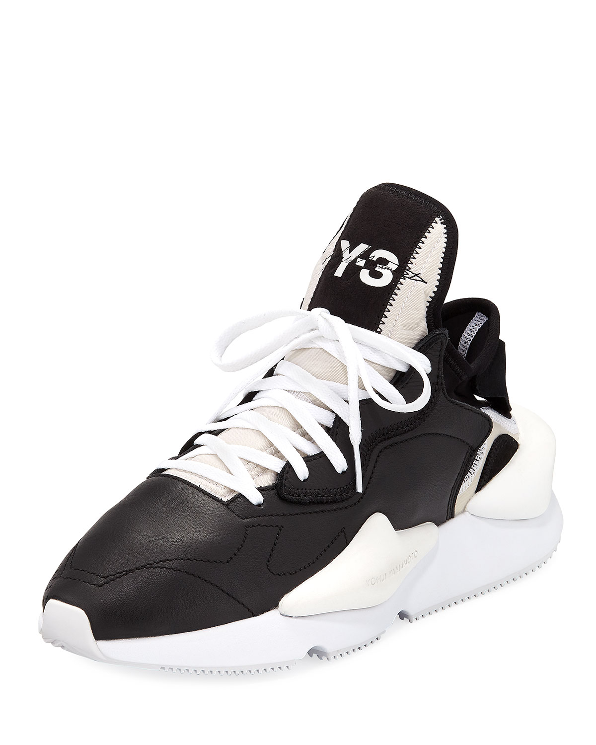 bd033e83453d Y-3 Men s Kaiwa Leather Running Sneakers