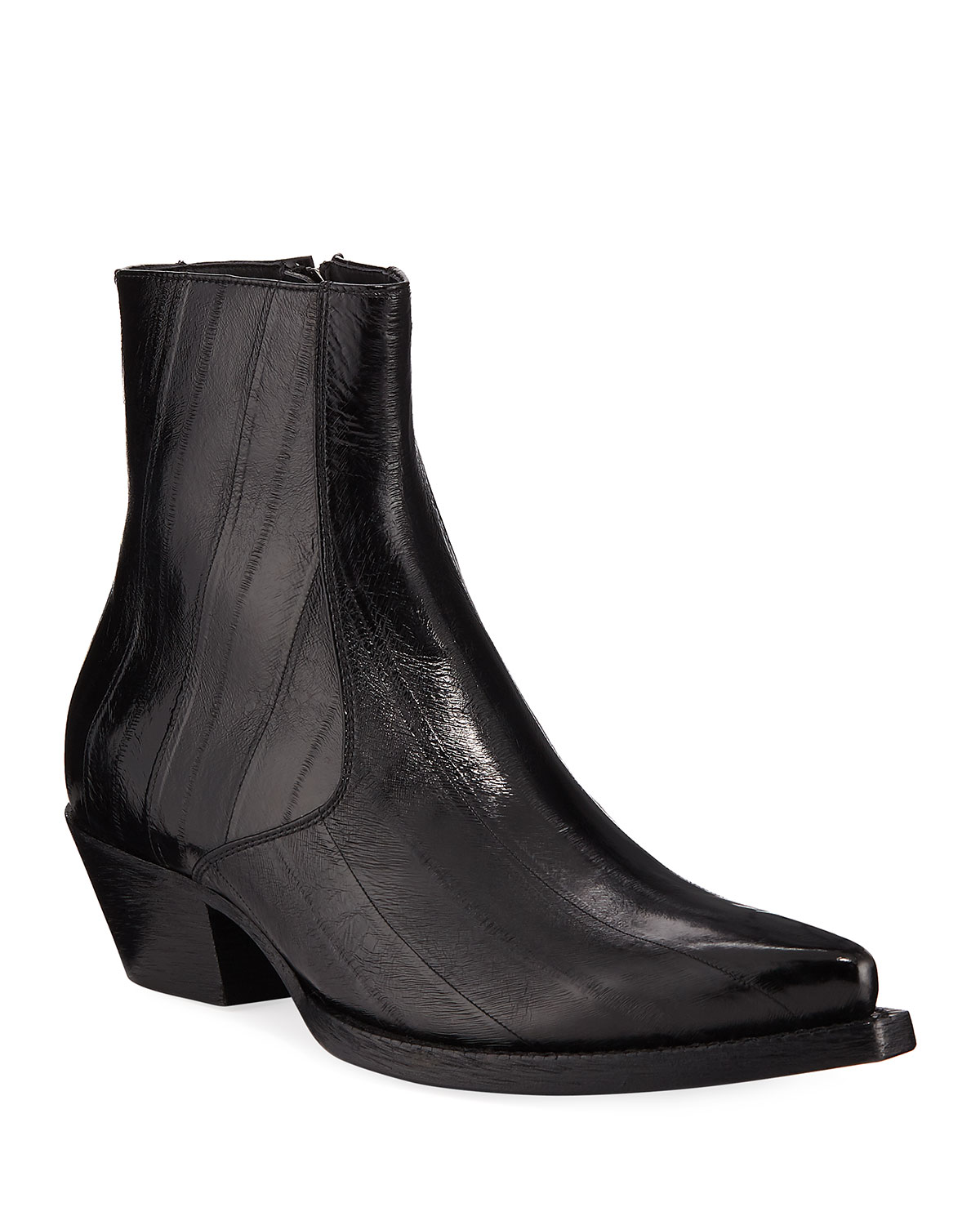 Saint Laurent Men s Lukas Eel-Leather Boots  ac63130264ad