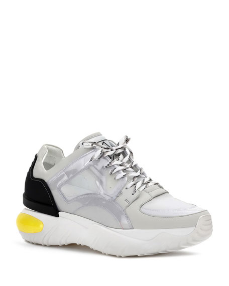 Men's Runway Reflective PVC & Mesh Trainer Dad Sneakers