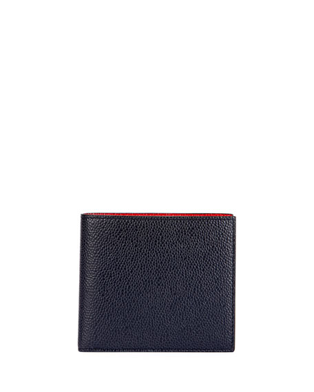 Men's Colorblock Leather Bi-Fold Wallet
