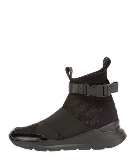 Balmain Men's Knit High-Top Sock Sneakers
