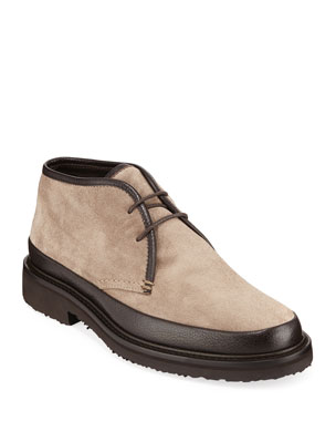ff05cc8e8 Ermenegildo Zegna Men s Trivero Suede   Leather Chukka Boots