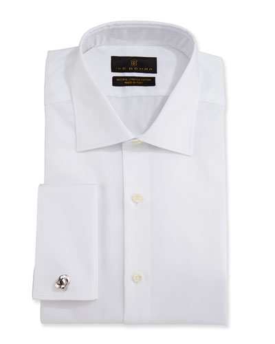Men's Marcus Twill French-Cuff Dress Shirt