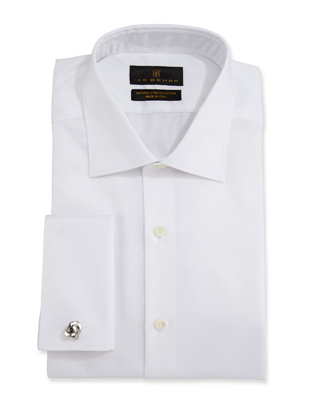 Ike Behar Men's Marcus Twill French-Cuff Dress Shirt
