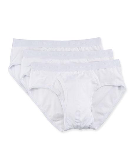 Neiman Marcus Men's 3-Pack Tagless Cotton Stretch Briefs