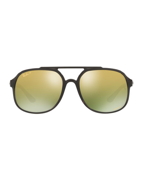 Ray-Ban Men's Square Chromance Propionate Sunglasses