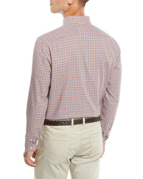 Neiman Marcus Men's Two-Tone Plaid Sport Shirt