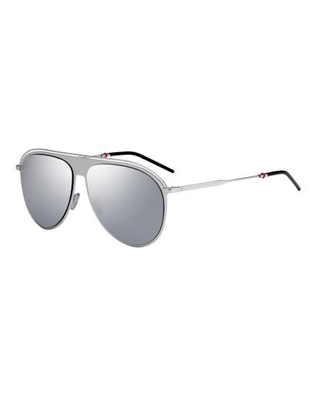 Dior Men's Ultrathin Metal Aviator/Pilot Sunglasses