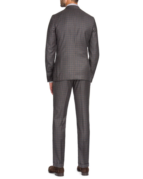Isaia Men's Multi-Check Wool-Cashmere Two-Piece Suit