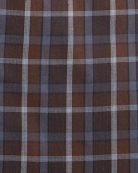 Isaia Men's Plaid Cotton Dress Shirt