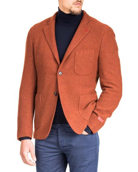 Isaia Men's Cashmere Knit Blazer