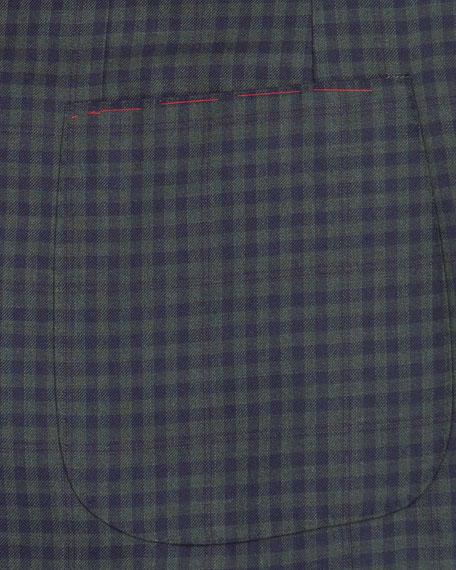 Isaia Men's Two-Tone Check Two-Button Blazer Jacket