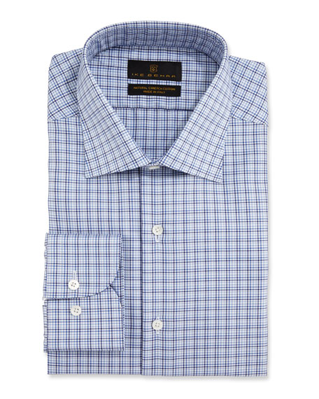 Ike Behar Men's Check Dress Shirt