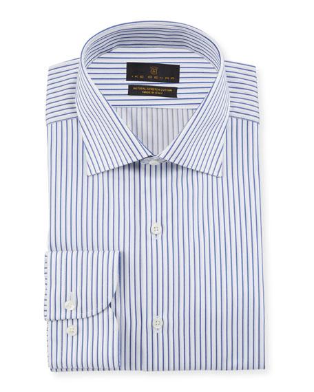 Ike Behar Men's Striped Cotton Dress Shirt