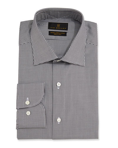 Men's Marcus Check Barrel-Cuff Dress Shirt