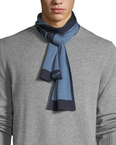 Men's Two-Tone Cashmere Scarf