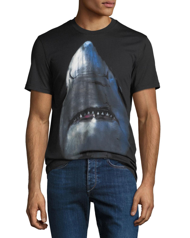 dac57785ab2f Givenchy Men's Cuban-Fit Shark Graphic T-Shirt   Neiman Marcus