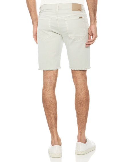 Men's Frayed-Hem Bermuda Shorts