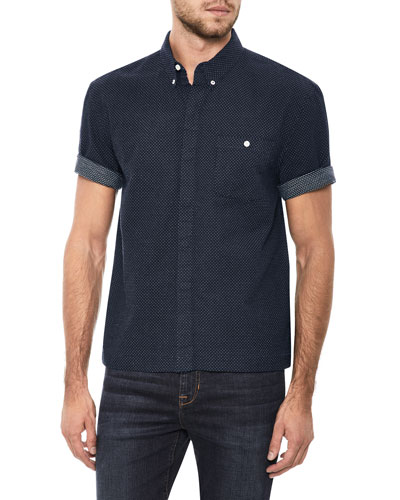 Men's Harvey League Short-Sleeve Denim Shirt
