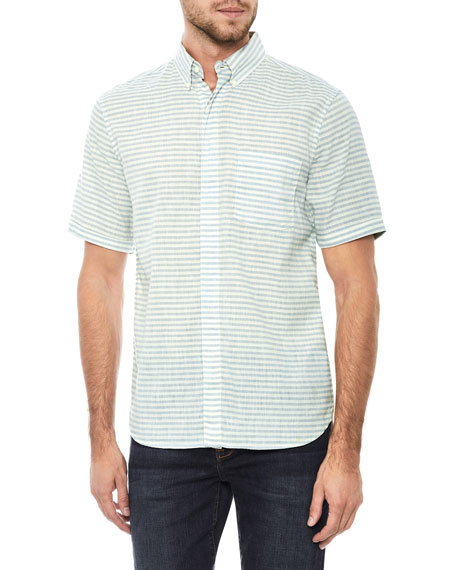 Men's John Striped Short-Sleeve Sport Shirt