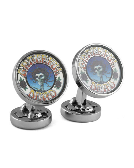 Tateossian Space Your Face Logo Cuff Links