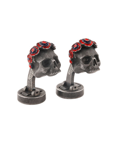 Steel Your Face Cuff Links, Dark Gray