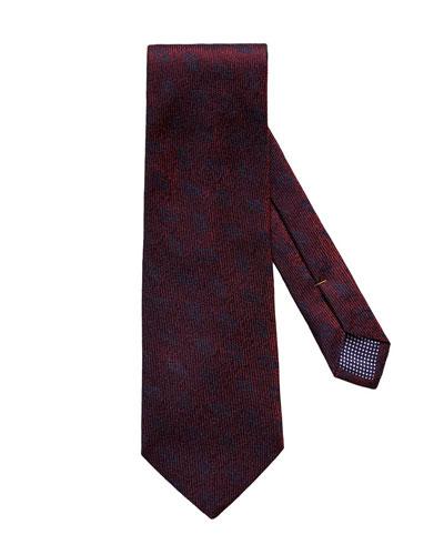 Geometric Medallion Silk Tie