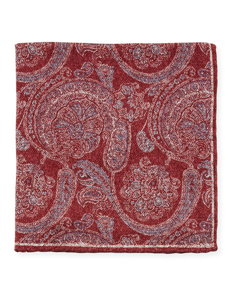 Edward Armah Men's Reversible Printed Silk Pocket Square